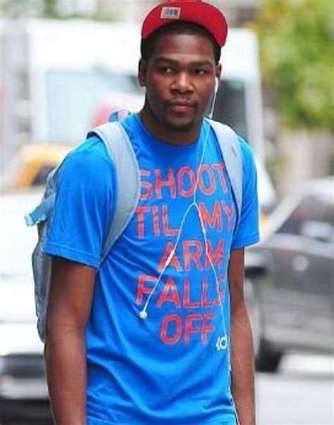 kevin durant wears shoot til my arm falls t shirt