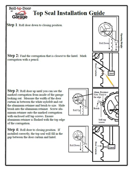 garage door installation manual roll up garage door installation manuals smart garage