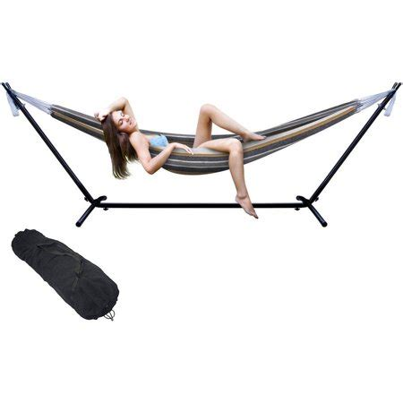 sorbus hammock with steel stand two person