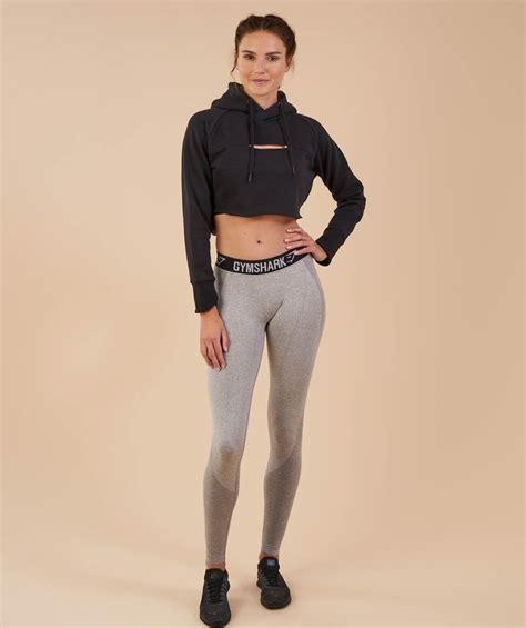 So Crop Hoodie Jaket gymshark cropped edge hoodie black 1