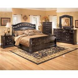 bedroom sets king size ashley furnituresuzannah 7 piece bedroom set with king size sleigh bed