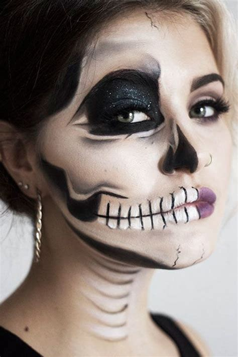 eyeliner tutorial for halloween skeleton makeup tutorial halloween sugar skull makeup