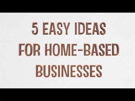 start a home based business ideas for mompreneurs in 2017 5 types of home business ideas to start offline youtube