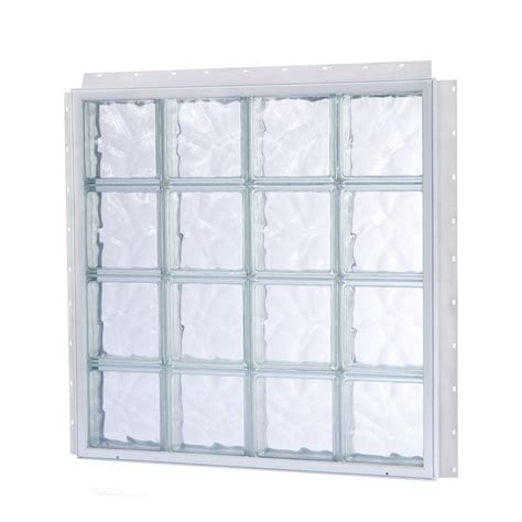 glass block tafco windows 15 875 in x 15 875 in nailup2 wave pattern