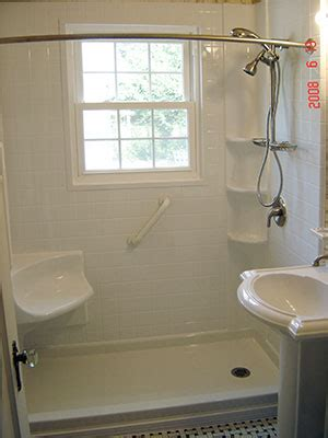 Turn Bathtub Into Shower by Tub To Shower Conversion Walk In Shower One Day Bath