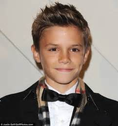 great haircuts for six year olds boys romeo beckham steals the spotlight from parents david and