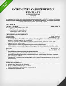 Resume Templates Entry Level by Entry Level Cashier Resume Template This Resume Sle To Use As A Template For