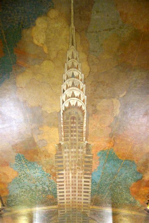 nyc midtown chrysler building ceiling mural