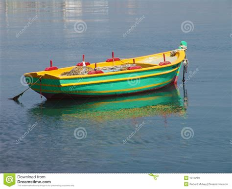 green boat pictures fishing boat at anchor stock image image of green boat