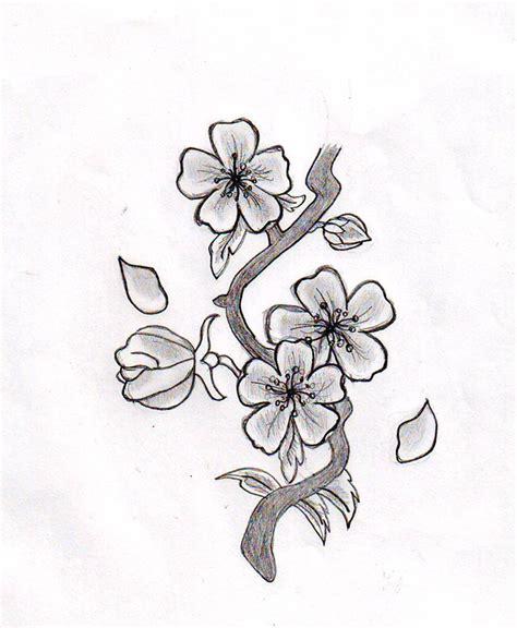 tattoo flower sketch cherry blossom tattoo drawings cherry blossom flower by