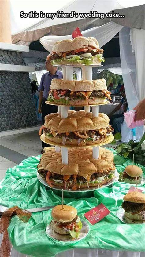 Backyard Burger Rock by Burger Wedding Cake Neatorama