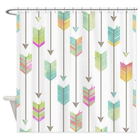 watercolor pattern curtains watercolor arrows pattern shower curtain by cutetoboottoo