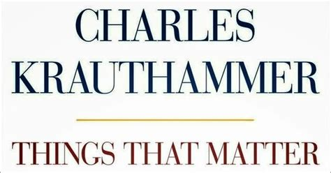 and the things that matter books book reviews things that matter by charles