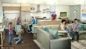 Communal Dining Room by Marriott To Introduce Communal Hotel Rooms Daily Mail