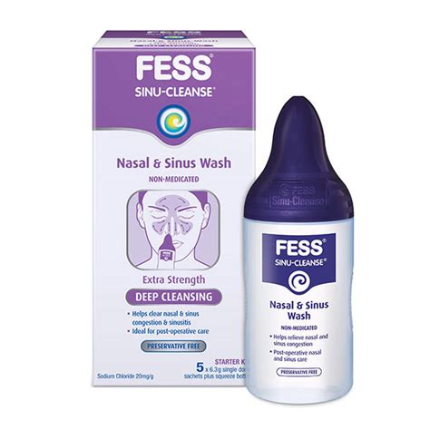 Detox Sinus Congestion by Fess 174 Sinu Cleanse Cleansing Wash Starter Kit Fess