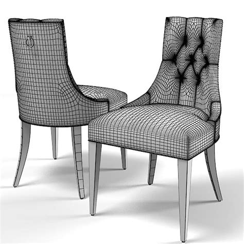 Baker Tufted Dining Chairs Baker Dining Chair 3d Model