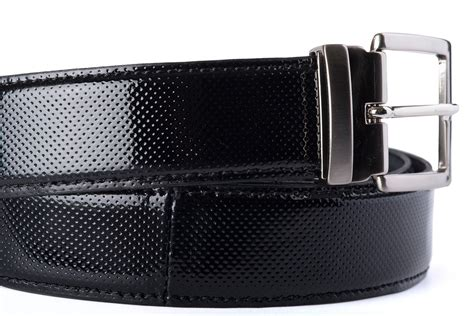adjustable micro perforated leather belt black belts