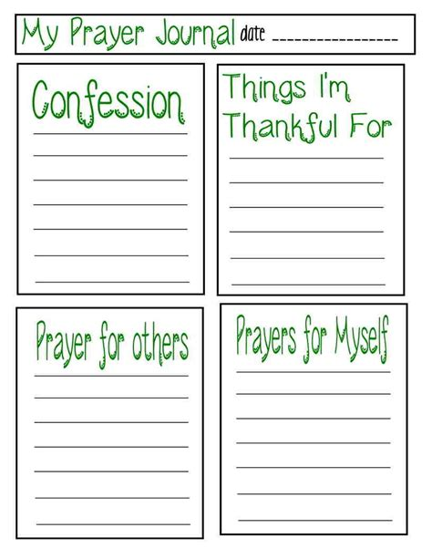 Teaching Children About Prayer With Free Prayer Journal Printable Prayer Journal Printable Prayer Schedule Template
