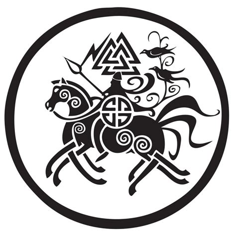 odin on sleipnir vinyl car sticker vinyl decal heathen