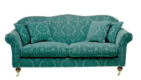 damask sofa hinton sofa in teal damask wesleybarrell peacock