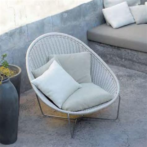 lenti outdoor furniture lenti nido armchair modern outdoor lounge chairs