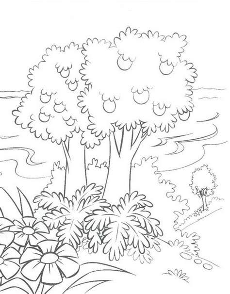 Desenhos de paisagens naturais para colorir   Desenhos de