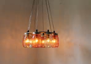 Mason jar chandelier bootsngus pink and clear jar ring 1