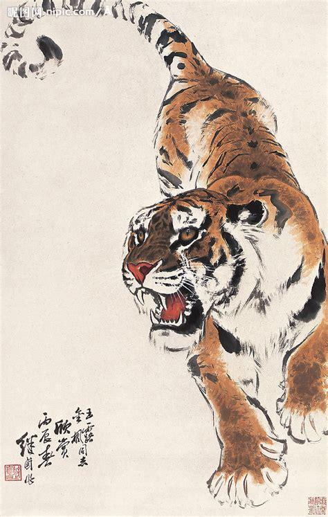 猛虎下山设计图 绘画书法 文化艺术 设计图库 昵图网nipic com