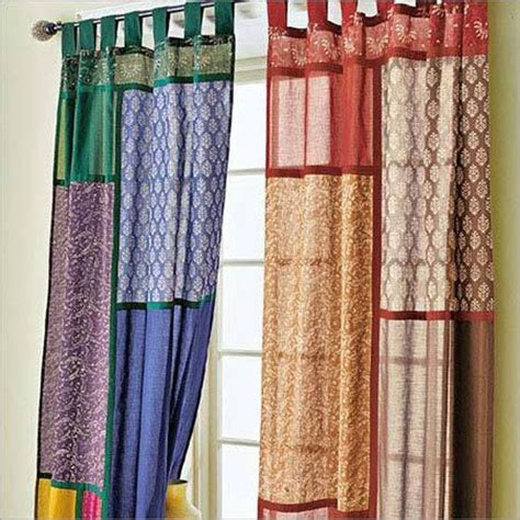 Patchwork Curtain - multicolored patchwork curtains curtain window