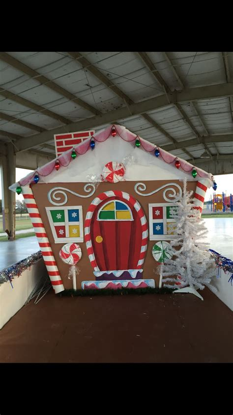 gingerbread house christmas lights gingerbread house float gingerbread house float for