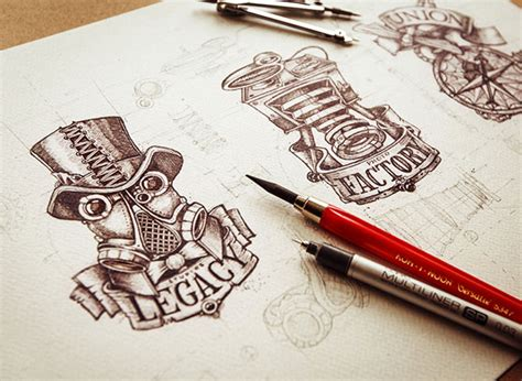 web design inspiration hand drawn good sketching skills make great logos