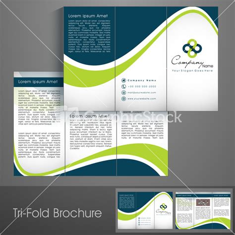 Professional Business Three Fold Flyer Template Stock Image Professional Templates
