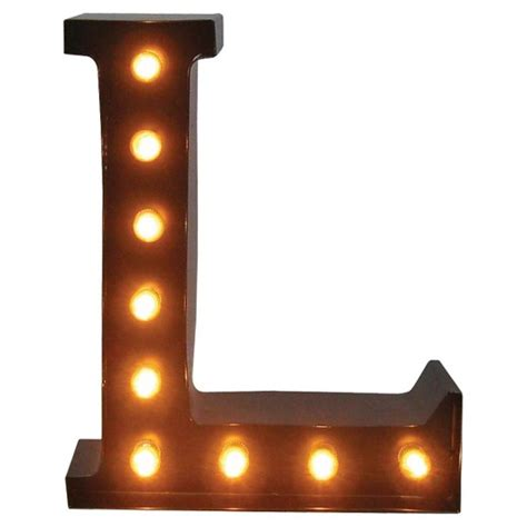 l target metal marquee letter l threshold target