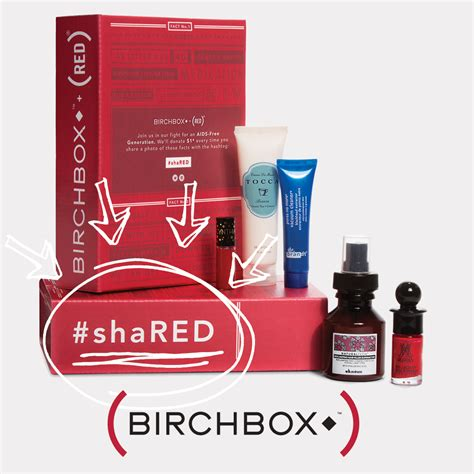 Birchbox Giveaway - shared red birchbox giveaway blog red