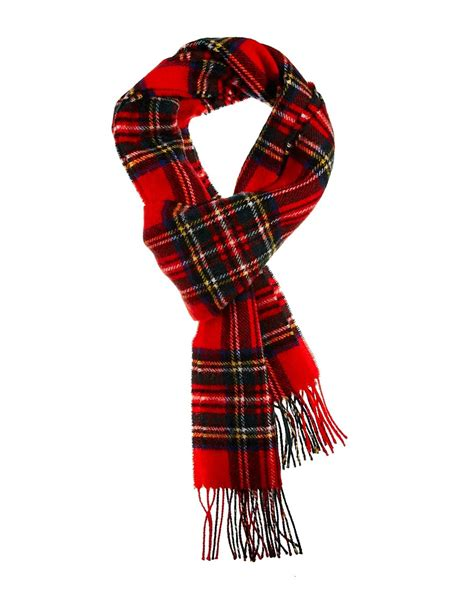 vans plaid lambswool scarf in for redtartan lyst