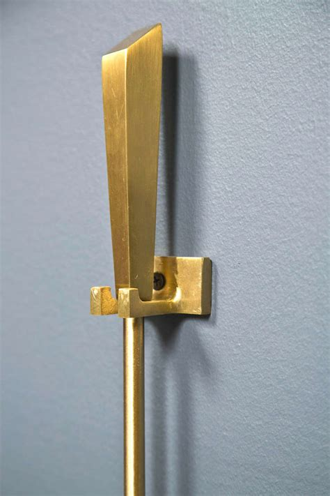 1960 s brass wall mount fireplace tools at 1stdibs