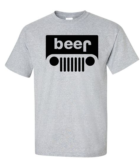 jeep beer shirt beer jeep logo graphic t shirt supergraphictees