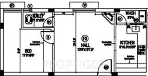 610 sq ft 1 bhk floor plan image gaj avenue available 610 sq ft 1 bhk 1t apartment for sale in sai shrishti