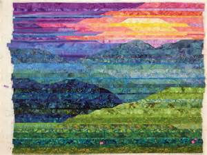 landscape quilts cathy geier s quilty blue ridge mountain