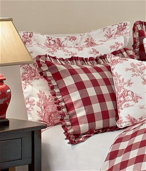 red toile bedding countrycurtains com has a nice usa made cotton red and