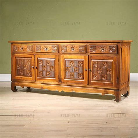 side drawers living room carving teak wood four door four drawers side cabinet living care partnerships