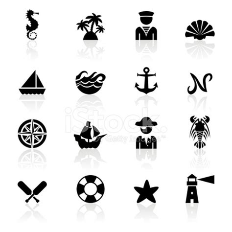 black symbols nautical stock vector freeimages com