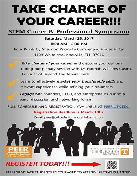 Of Tennessee Knoxville Mba Deadline by Peer Hosts Stem Career And Professional Symposium The