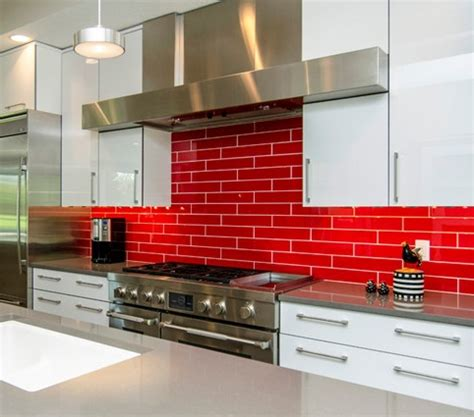 Red Backsplash Kitchen red tiles for kitchen backsplash red tile backsplashes are bold and