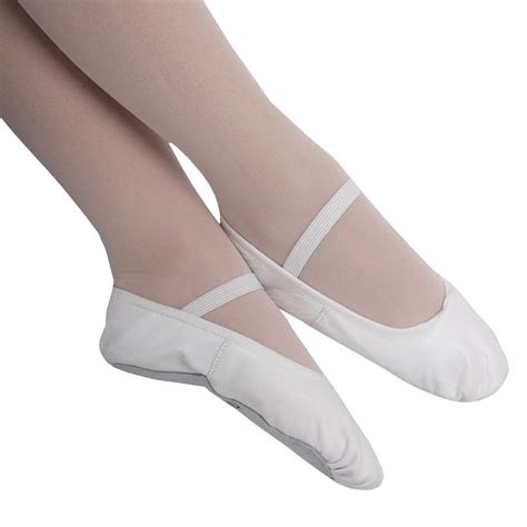 white ballet shoes boys white leather ballet shoes with pre sewn