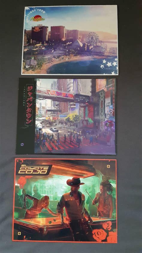 cyberpunk    gold full night city physical map
