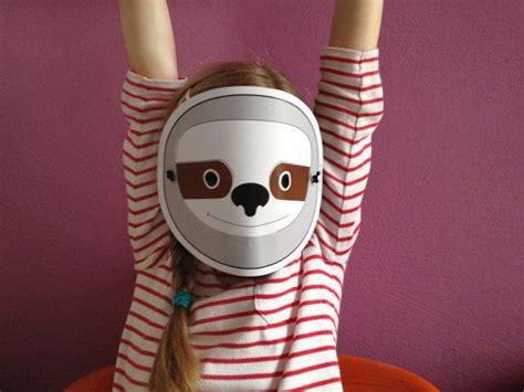 sloth mask template printable sloth mask for children pdf by dieknuschels printables