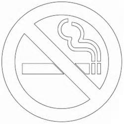 No Smoking Coloring Pages For Kids Sketch Page sketch template