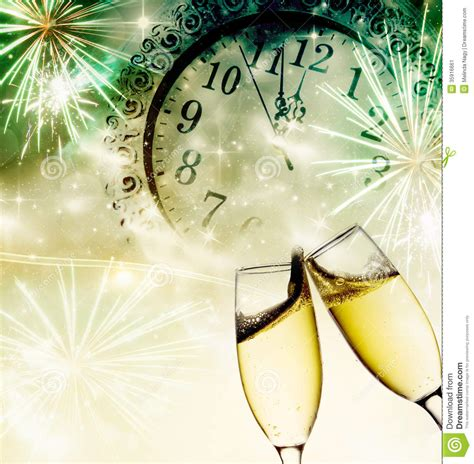 new years midnight new year s at midnight stock image image of cheers