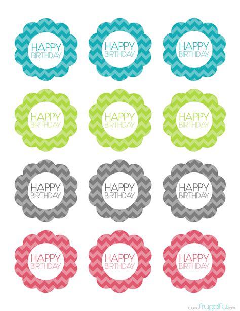Printable Party Toppers   free printable chevron birthday cupcake topper cakepins